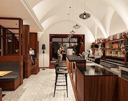 """Projekt wnętrz lokalu """"Little Britain"""" w Krakowie - Wnętrza publiczne, styl klasyczny - zdjęcie od KJ Architekci - Homebook"""