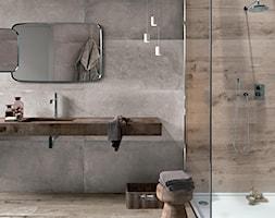 Minimalistyczna łazienka - Flaviker Dakota Avana i Backstage - zdjęcie od terrano.pl