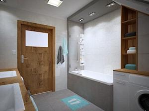 Łazienka na poddaszu - Średnia łazienka w bloku w domu jednorodzinnym bez okna, styl nowoczesny - zdjęcie od PTW Studio