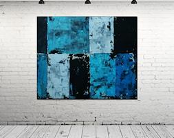 Obraz+olejny+-+Niebieski+VIII+-+zdj%C4%99cie+od+Pracownia+Artystyczna+Maja+Gajewska