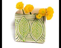 Wazonik lub osłonka 9cm - zielone listki - zdjęcie od hypnotic - Homebook