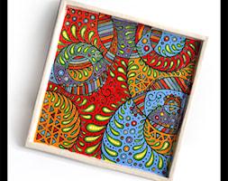 Patera ozdobna - kolorowa - zdjęcie od hypnotic - Homebook