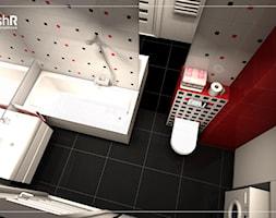Mała łazienka w czterech odsłonach - Średnia biała łazienka w bloku w domu jednorodzinnym bez okna, styl nowoczesny - zdjęcie od freshR - pracownia projektowa