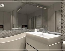 Mała łazienka w czterech odsłonach - Średnia beżowa łazienka w bloku w domu jednorodzinnym bez okna, styl nowoczesny - zdjęcie od freshR - pracownia projektowa