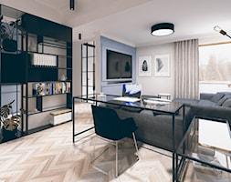 NOWOCZESNA KLASYKA WNĘTRZA - Mały szary niebieski salon, styl eklektyczny - zdjęcie od TO BE DESIGN WERONIKA BUDZICHOWSKA