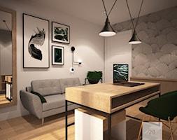 DOMOWE BIURO - Duże białe biuro pracownia w pokoju, styl eklektyczny - zdjęcie od TO BE DESIGN WERONIKA BUDZICHOWSKA