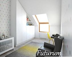 Projekt wnętrza segmentu, Szczecin - Duży biały pokój dziecka dla chłopca dla niemowlaka, styl nowoczesny - zdjęcie od FUTURUM ARCHITECTURE