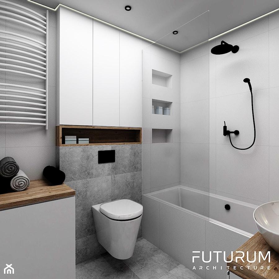 Projekt Wnętrza Bajeczna Kraków Mała łazienka W Bloku Bez Okna
