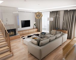 Salon styl Skandynawski - zdjęcie od Futurum Architecture
