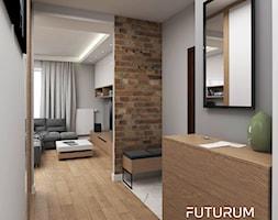 Projekt mieszkania, ul.Orlińskiego - Średni biały beżowy hol / przedpokój, styl nowoczesny - zdjęcie od FUTURUM ARCHITECTURE