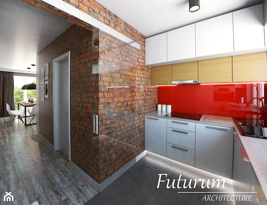 Projekt wnętrza mieszkania, Olkusz  Kuchnia, styl