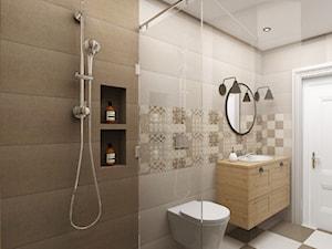Projekt wnętrza domu pod Warszawą, styl klasyczny - Mała łazienka w bloku w domu jednorodzinnym bez okna, styl rustykalny - zdjęcie od FUTURUM ARCHITECTURE
