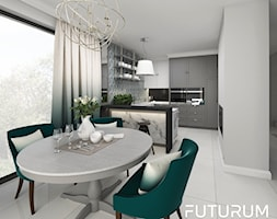 Jadalnia i kuchnia w domu jednorodzinnym - zdjęcie od FUTURUM ARCHITECTURE