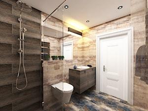Projekt wnętrza domu pod Warszawą, styl klasyczny - Średnia łazienka w bloku w domu jednorodzinnym bez okna, styl rustykalny - zdjęcie od FUTURUM ARCHITECTURE