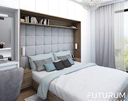 Projekt wnętrza, Bajeczna, Kraków - Średnia niebieska sypialnia małżeńska, styl nowoczesny - zdjęcie od FUTURUM ARCHITECTURE - Homebook
