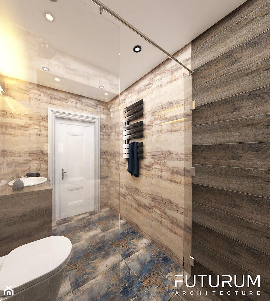 Projekt wnętrza domu pod Warszawą, styl klasyczny - Łazienka, styl rustykalny - zdjęcie od FUTURUM ARCHITECTURE