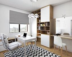 Projekt wnętrza, Łomża - Średnie białe biuro pracownia w pokoju, styl nowoczesny - zdjęcie od FUTURUM ARCHITECTURE