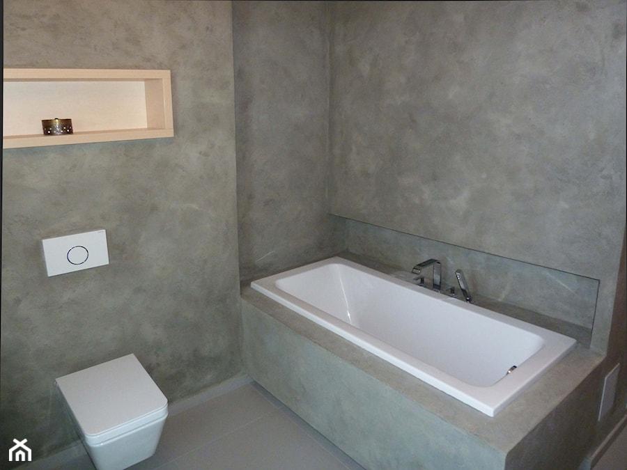 Beton Architektoniczny W łazience Zdjęcie Od Dekor Marmo
