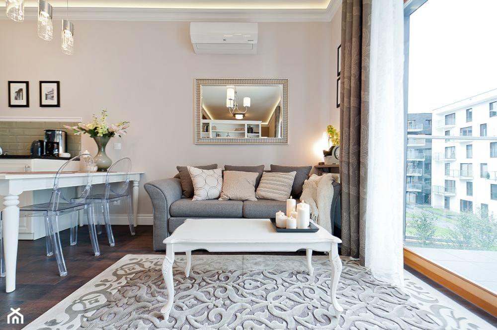 Salon w odcieniach beżu - zdjęcie od AgiDesign - Homebook