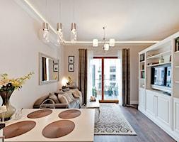 Salon w odcieniach beżu - zdjęcie od AgiDesign
