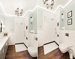 Apartament Novum - Średnia łazienka w bloku bez okna, styl klasyczny - zdjęcie od AgiDesign