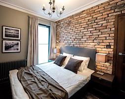 Apartament z widokiem na Wawel - Mała szara sypialnia małżeńska, styl vintage - zdjęcie od AgiDesign