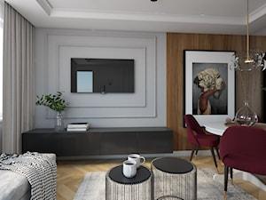 Metamorfoza mieszkania 44 m2 w bloku z wielkiej płyty - Salon, styl nowoczesny - zdjęcie od Architektownia