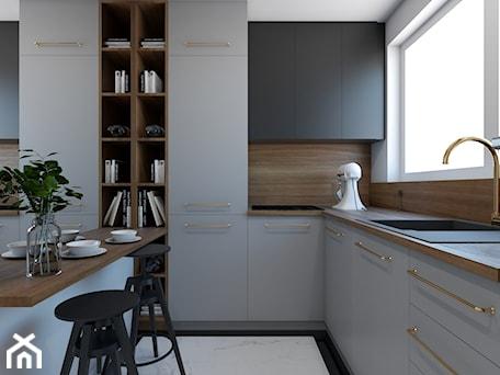Aranżacje wnętrz - Kuchnia: Metamorfoza mieszkania 44 m2 w bloku z wielkiej płyty - Kuchnia, styl nowoczesny - Architektownia. Przeglądaj, dodawaj i zapisuj najlepsze zdjęcia, pomysły i inspiracje designerskie. W bazie mamy już prawie milion fotografii!