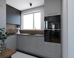 Metamorfoza mieszkania 44 m2 w bloku z wielkiej płyty - Kuchnia, styl nowoczesny - zdjęcie od Architektownia - Homebook
