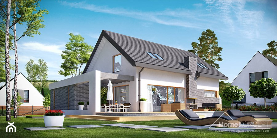 projekt domu jednorodzinnego homekoncept 05 zdj cie od homekoncept projekty dom w nowoczesnych. Black Bedroom Furniture Sets. Home Design Ideas