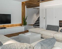 Projekt domu HomeKoncept 33 - Średni biały salon, styl nowoczesny - zdjęcie od HomeKONCEPT Projekty Domów Nowoczesnych