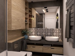 Umywalki w głównej łazience - zdjęcie od Anna Orowiecka-Stanisławska