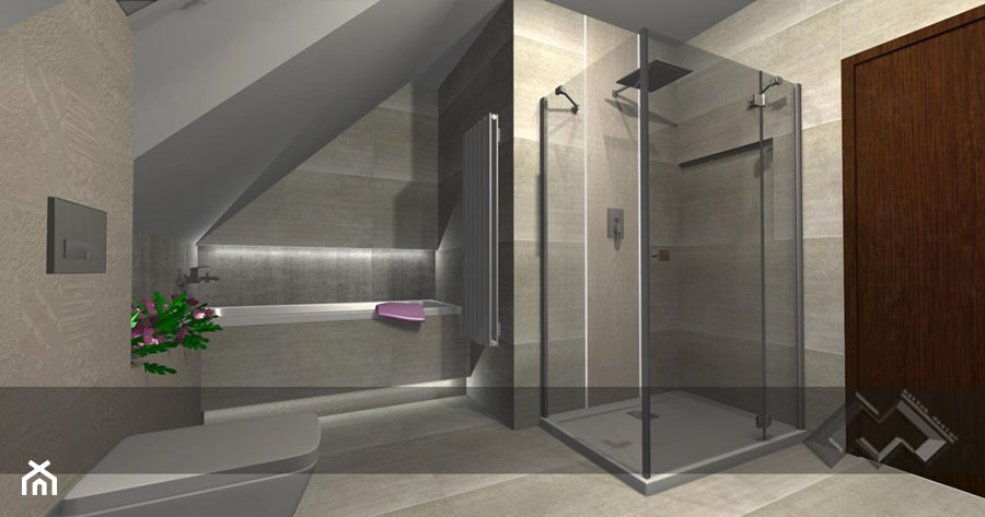 łazienki dla klientów salonu w Krakowie - Łazienka, styl nowoczesny - zdjęcie od studio aranżacji wnętrz matlok design