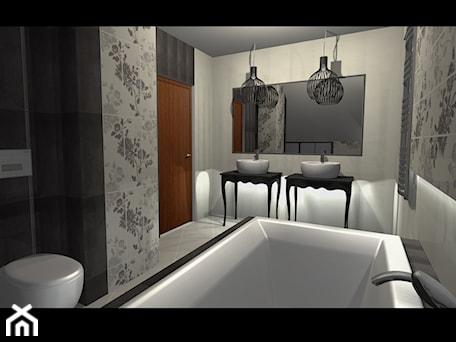 Aranżacje wnętrz - Łazienka: nasze projekty - Średnia szara łazienka w bloku w domu jednorodzinnym bez okna, styl glamour - studio aranżacji wnętrz matlok design. Przeglądaj, dodawaj i zapisuj najlepsze zdjęcia, pomysły i inspiracje designerskie. W bazie mamy już prawie milion fotografii!