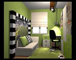nasze projekty - Mały zielony pokój dziecka dla chłopca dla nastolatka, styl tradycyjny - zdjęcie od studio aranżacji wnętrz matlok design