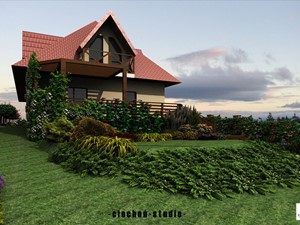 Projekt ogrodu w Cianowicach