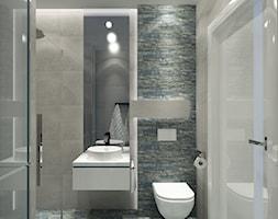 Łazienka z niebieską płytką - zdjęcie od Ciochoń-Studio
