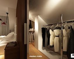Sypialnia z garderobą - zdjęcie od Ciochoń-Studio