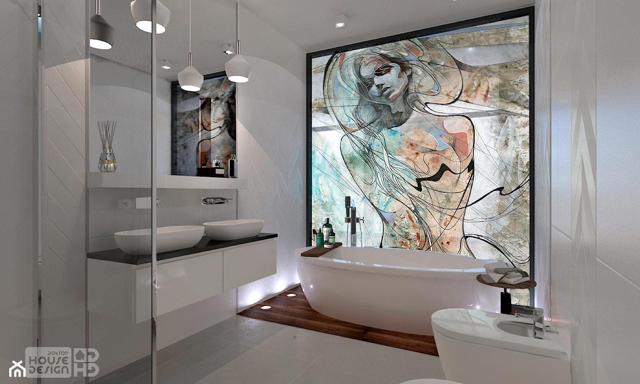 dekoracyjna ściana w łazience
