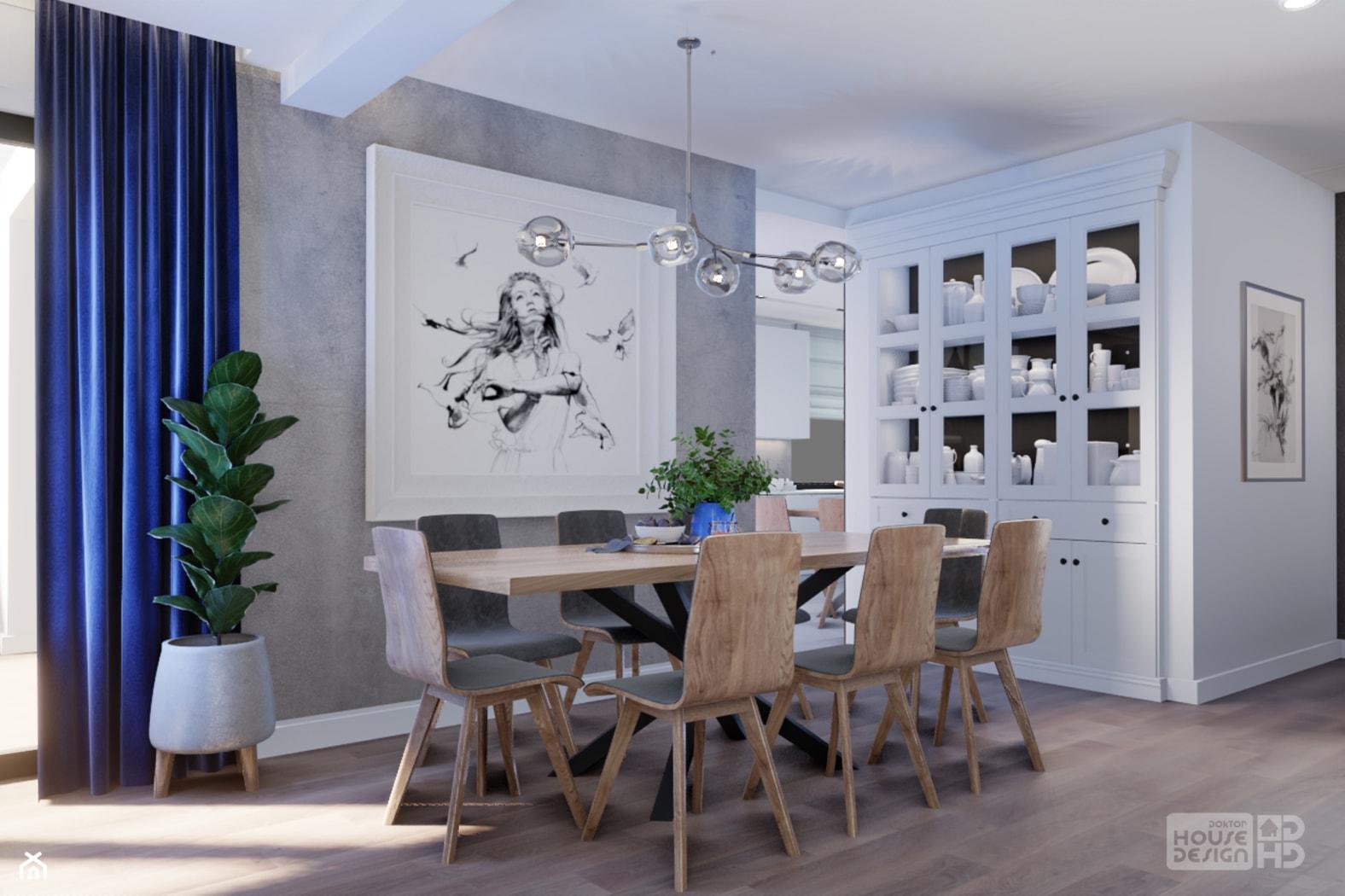 szara jadalnia - zdjęcie od DOKTOR HOUSE DESIGN - Homebook