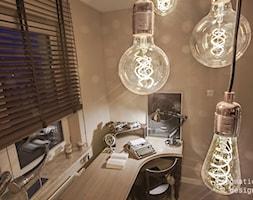 Biuro w domu- detal - oświetlenie - zdjęcie od Doriz Pragmatic Design