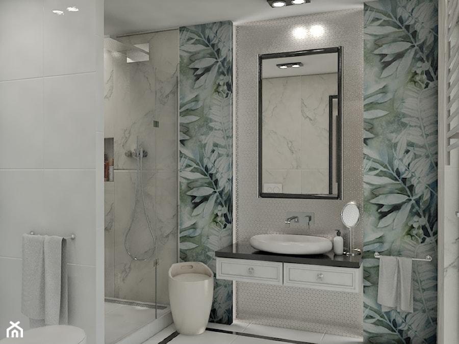 zielone liście w łazience - zdjęcie od Pracownia Projektowa SKEB S.K.Kołtun