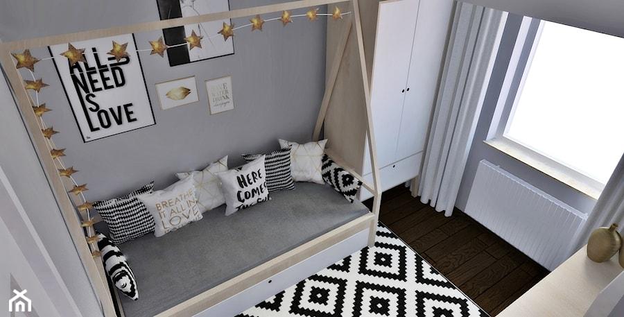 Pokój nastolatki w skandynawskim stylu - zdjęcie od Pracownia Projektowa SKEB S.K.Kołtun