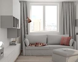 Mieszkanie w odcieniach szarości, bieli i czerwieni - zdjęcie od STUDIO BRYŁA KATARZYNA DEREWICZ - Homebook
