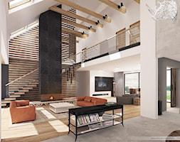 Mazurska Rezydencja - salon - zdjęcie od pracownia architektoniczna c h i l i a r t