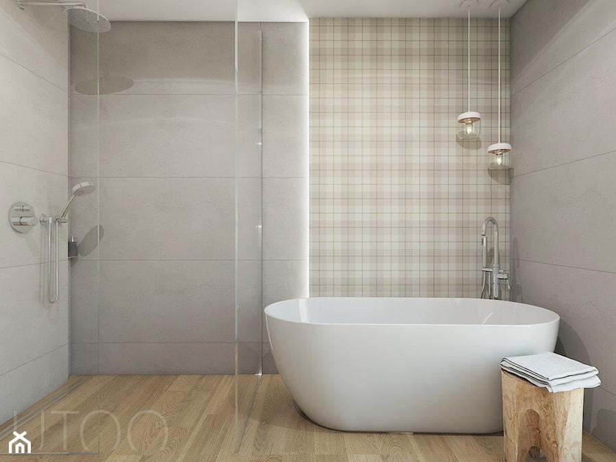 PODMIEJSKI LUZ - Średnia łazienka w bloku bez okna, styl skandynawski - zdjęcie od UTOO- pracownia architektury wnętrz i krajobrazu