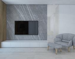 SIŁA SPOKOJU - Mały szary salon, styl nowoczesny - zdjęcie od UTOO- pracownia architektury wnętrz i krajobrazu
