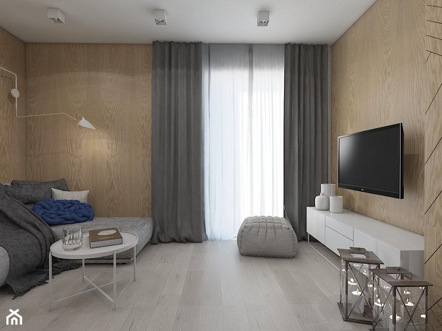kontrast czerni redni salon styl nowoczesny zdj cie od utoo pracownia architektury wn trz. Black Bedroom Furniture Sets. Home Design Ideas