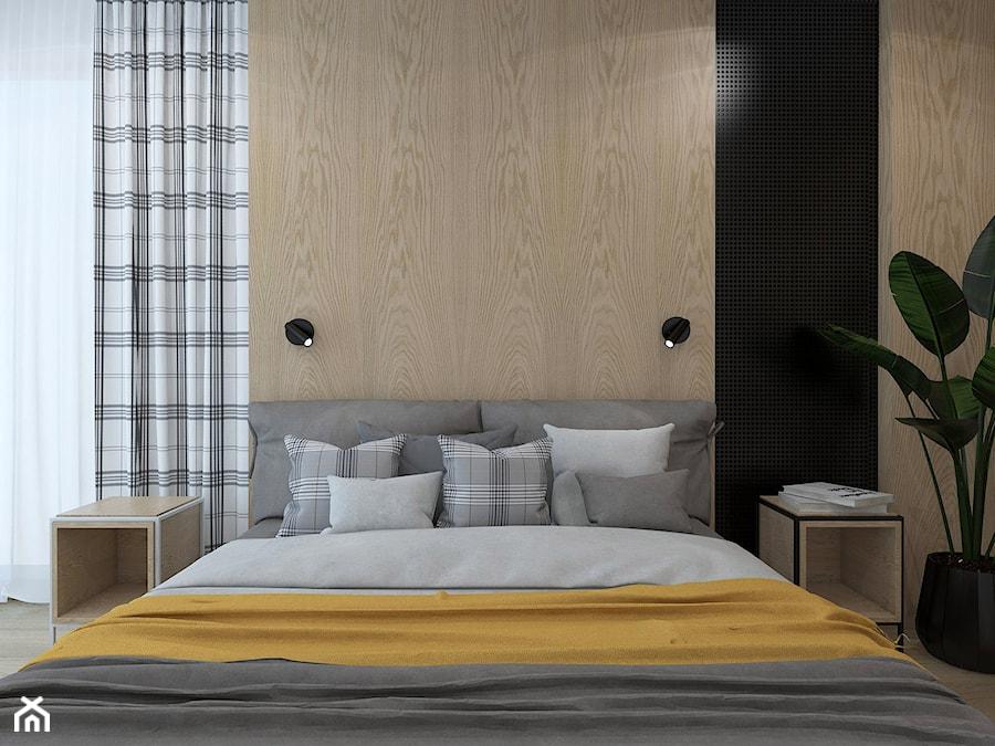 PODMIEJSKI LUZ - Średnia sypialnia małżeńska, styl skandynawski - zdjęcie od UTOO- pracownia architektury wnętrz i krajobrazu