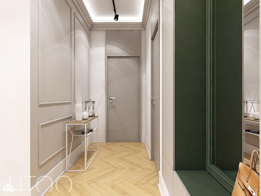 KLASYCZNA INSPIRACJA - Średni szary hol / przedpokój, styl nowoczesny - zdjęcie od UTOO- pracownia architektury wnętrz i krajobrazu